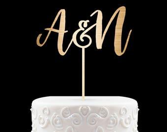 Customized Wedding Cake Topper Initials Personalized Cake Topper for Wedding Custom Personalized Wedding Cake Topper Monogram Cake Topper 30
