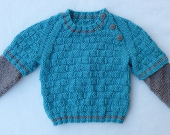 Baby Boy Girls Knitted Jumper Sweater Size 6 months - 12 months (Check Measurements Diagram)