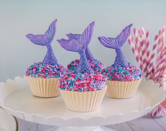 Mermaid Cupcakes- Fake cupcake, prop cupcake, party decor