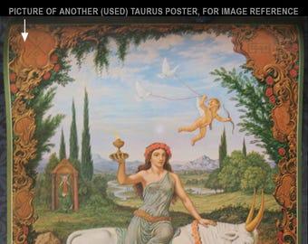 TAURUS Johfra Verkerke mint original 1970s vintage zodiac poster