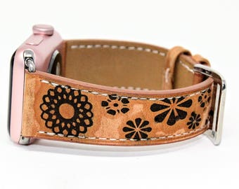 Apple Watch Band 38mm / Apple Watch Band / Apple Watch Band 42mm /  Floral Apple Watch Band /  Apple Watch Leather / iWatch Band for Women