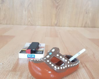 Ashtray - Shoe Ashtray - Smoking Accessories - Ceramic Shoe Ashtray - Art Pottery - Glazed Pottery - Shoe Art - Smoker Gift.