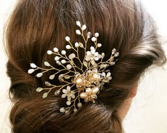 Wedding hair comb - Bridal headpiece -Bridal hair accessories - Wedding hair accessories - Bridal hair comb - Crystal hair comb