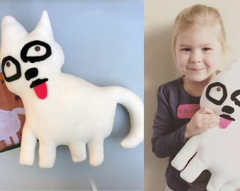 Custom plush made from children's art - One of a kind soft toy from children's drawing - Unique handmade plush - Birthday gift MADE TO ORDER