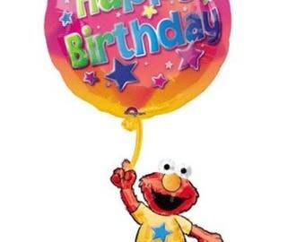 """Elmo Happy Birthday 39"""" Foil Balloon, Elmo Balloon"""