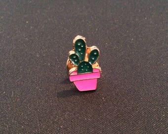 Cute spiky enamel cactus pin