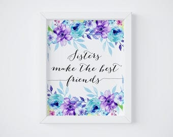 Purple Quotes Delectable Sister Quote  Etsy