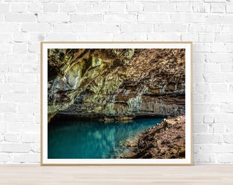 The Blue Cave |  Cave Landscape Art |  Instant Download |  Cave Photography | Sea Art | Contemporary landscape | Cave artwork