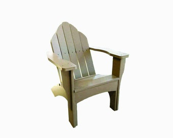 Recycled Plastic Adirondack Chair Driftwood, Cedar or White New Eco-Friendly Patio Furniture