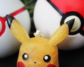 Kawaii Pokemon Pikachu Resin Necklace Pendant