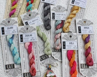 Buy 10 get 1 Free, Cottage Garden Threads, Embroidery Floss, Rainbow of Color,
