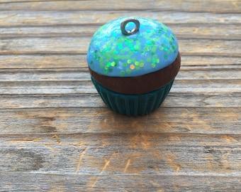 Cupcake Charm, Polymer Clay
