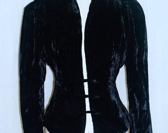Black Velvet Vintage Jacket