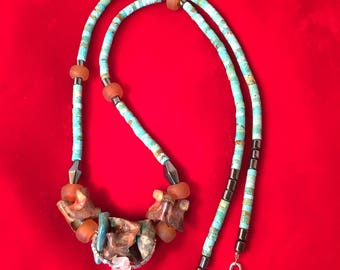 Turquoise and Rattlesnake Necklace