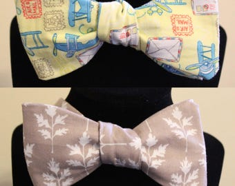 Travel Print Self Tie Bowtie
