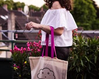 Clouds cotton bag / cloud tote bag