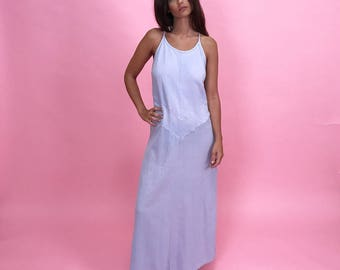 100% cotton pale purple maxi dress M