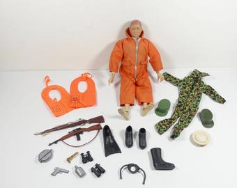 1967 - 1969 GI Joe Action Figure Late 60s Early 70s GI Joe Hasbro with Accessories