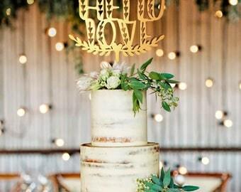 Personalized Wedding Cake Topper, Wedding Cake Topper, Wedding Decoration, Personalized Cake, Cake Toppers, Hello Love Topper