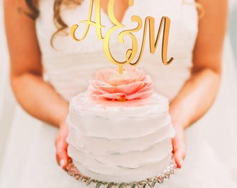 Personalized Wedding Cake Topper, Wedding Cake Topper, Wedding Decoration, Personalized Cake, Cake Toppers, Mr And Mrs Topper, A&M Topper
