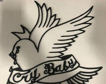 Lil Peep 'Crybaby' Mixtape Cover Plasma Cut Metal Wall Art
