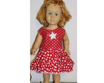 "Chatty Cathy Doll not included. Clothes only. Red & White Western Star 4th of July clothes for 20"" tall dolls the same size as Chatty Cathy"
