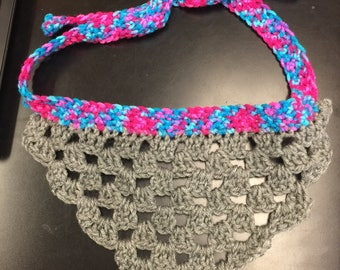 Large Crocheted Dog Bandana
