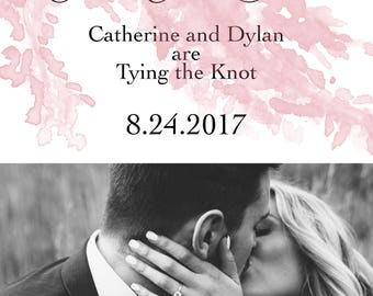 Gorgeous Custom Save The Date Printable