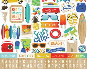Beach Day Stickers