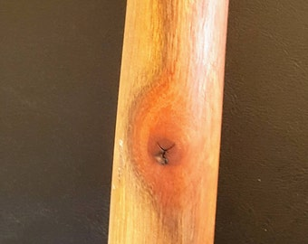 "48.5"" beautiful hand carved walking stick, 2 lbs, So Cal Laurel, one of a kind"