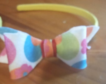 Back to school Rainbow  Head band/ toddler. Baby Headband , Felt Bow Headband, Newborn Headband , Bow Headband ,, Felt Baby Bows