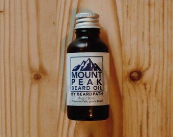 Organic BEARD OIL   Mount Peak   Blend includes: peppermint - Tea Tree - Cedarwood - Cinnamon   Natural Beard Conditioner