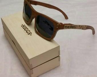 Men's Wooden Sunglasses, box and micro-fibre cloth