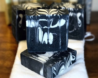 Activated Charcoal and Green Tea Extract - Artisan Soap - handmade in Texas by Tell it to the Bee *VEGAN