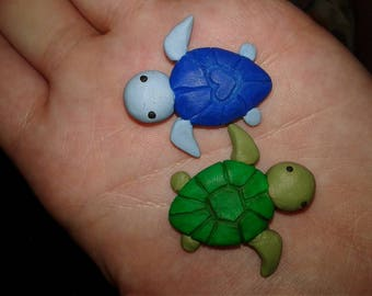 Polymer Clay Kawaii Turtles