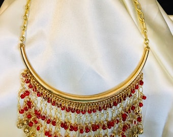 Red Elegance Necklace - Matching Earrings Available