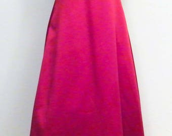 Sz 8 David's Bridal Dk Burgundy Satin Beaded Dress