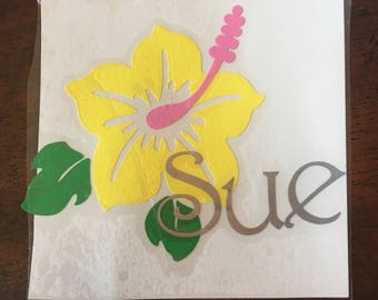 Hawaiian Flower Name Monogram
