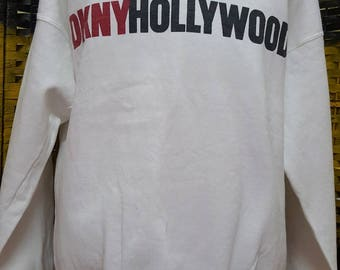 Vintage DKNY HOLLYWOOD / dkny jeans / big logo / One size fit all (G6)