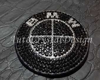 Individual BLACK EDITION Boot & Bonnet Badges Covered With High Quality Crystals for BMW