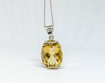 Female pendant, CITRINE, on 925 sterling silver