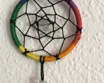 Small Rainbow Dream Catcher