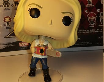 Custom Funko Pop of Emma Swan (with chainsaw!) from Once Upon a Time