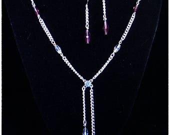 Purple and Clear Bolo Chain