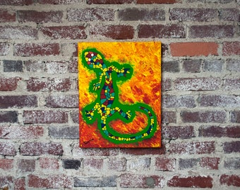 Fire Salamander - Acrylic painting on canvas