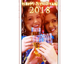 New Year Geofilter, Happy New Year Geofilter, New Years Eve Party, Party Geofilter, New Years Party Geofilter, Glitter Gold Geofilter 2018