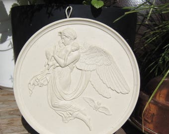 Night and her children after Bertel Thorvaldsen wall plaque / plaster plaque / wall relief / wall plate
