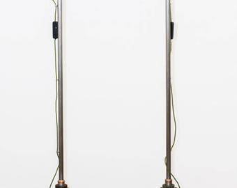 Bespoke Industrial Floor lamps. ( Pair )
