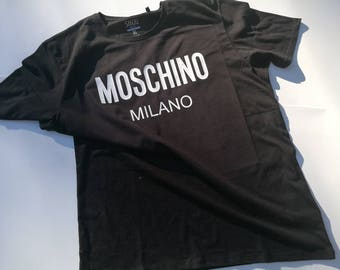 Moschino inspired t shirt, moschino milano t shirt,  glitter moschino shirt, birthday gift, designer inspired tee, moschino clothing