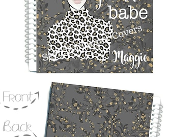 Planner Babe Planner Cover, Planner, Fashion Girl Cover, Glam Planner Girl, To use with Erin Condren(TM), Happy Planner, Recollections Cover